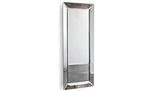 Calligaris Pleasure Large Rectangular Mirror, Smoke Grey