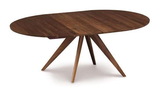 "Copeland Catalina 48"" Round Extension Table Walnut"