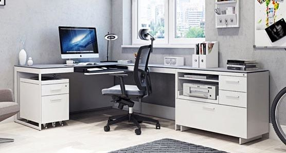 BDI Centro Office Collection, Satin White