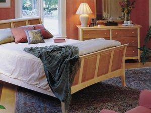 Copeland Sarah Cherry & Maple Sleigh Bedroom