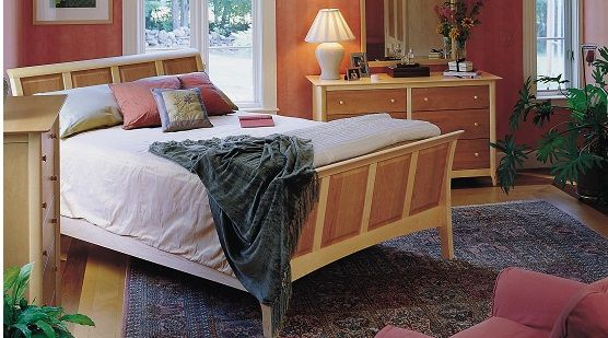 Copeland Sarah Cherry & Maple Sleigh Bedroom