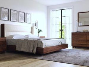 Copeland Sloane Floating Bedroom in Walnut