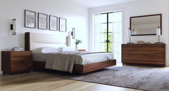 Copeland Sloane Floating Bedroom in Walnut
