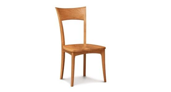 Copeland Ingrid Side Chair with Wood Seat in Cherry