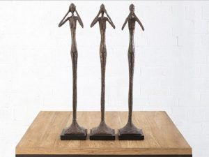Phillips Collection Skinny Man See Hear Speak No Evil Sculpture