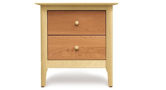 Copeland Sarah 2 Drawer Nightstand in Maple/Cherry
