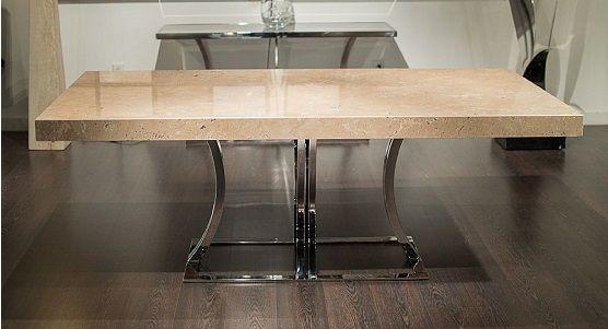 Stone International Aurora Steel Dining Table