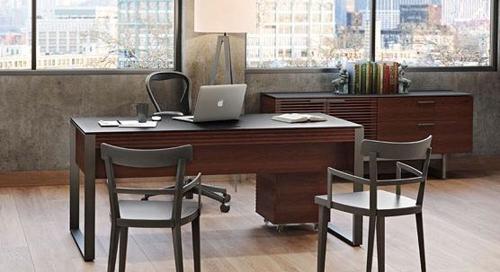 BDI Corridor Office Collection, Chocolate Stained Walnut