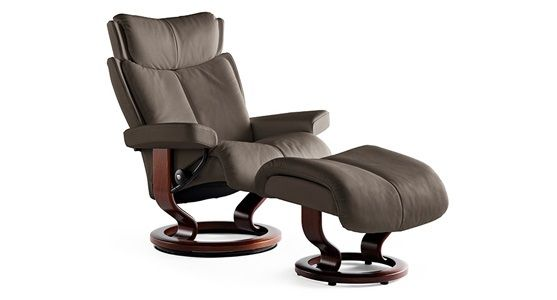 Ekornes Stressless Magic Recliner & Ottoman (Classic)