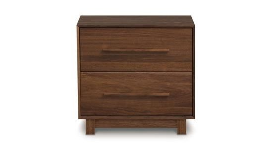 Copeland Sloane 2 Drawer Nightstand Walnut